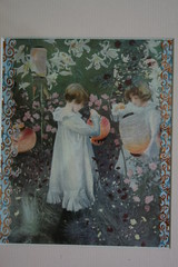 Print of girls with lanterns