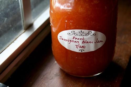 Peach Sauvignon Blanc Jam
