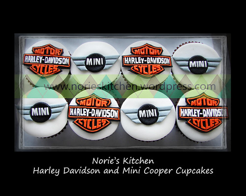 Norie's Kitchen - Mini Cooper and Harley Davidson Cupcakes
