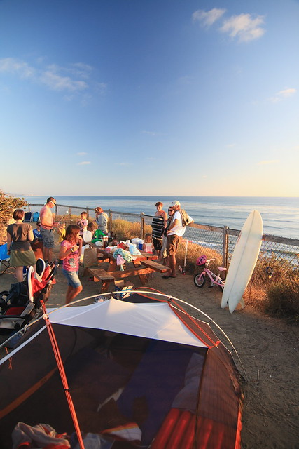 July camping in Cardiff-by-the-Sea