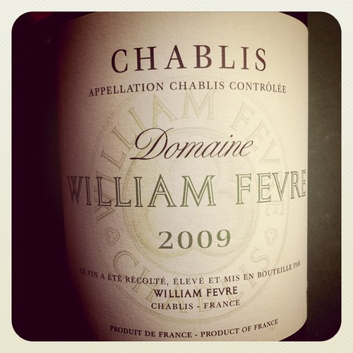 Chablis 2009, Domaine William Fevre, France.