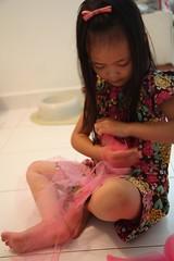 making the no-sew tutu