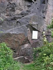 Einstieg in die Sachsenstiege unter der Begerburg