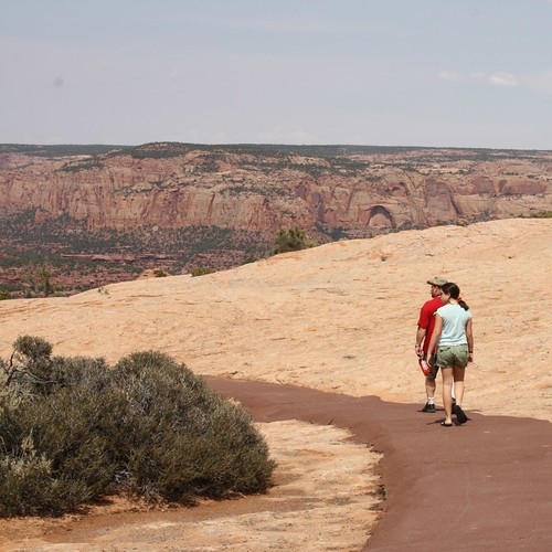 Ruth and Greg hiking at Navajo National Monument
