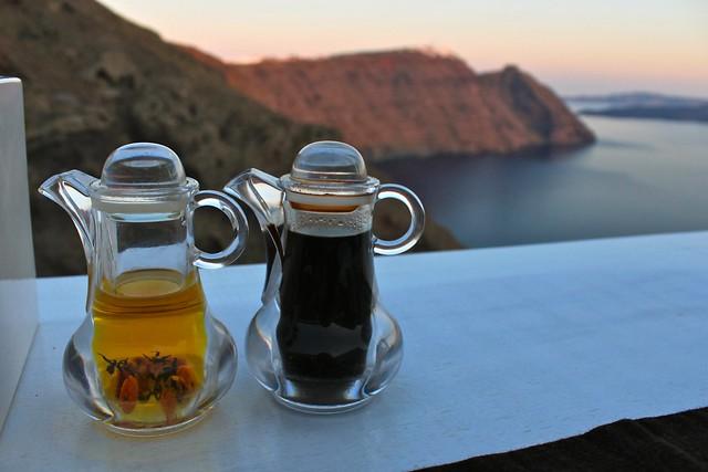 Huile d'olive et vinaigre balsamique, Santorin, Grèce