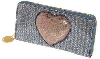 Glitter Wallet, Glitter Heart Wallet, Sparkly Wallet