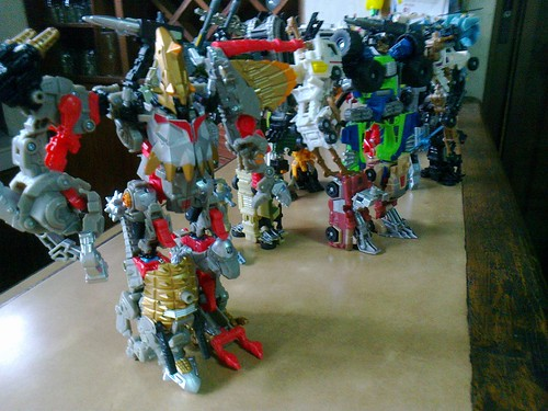 Brother Bear's Army of Transformers to watch over me... by awibear