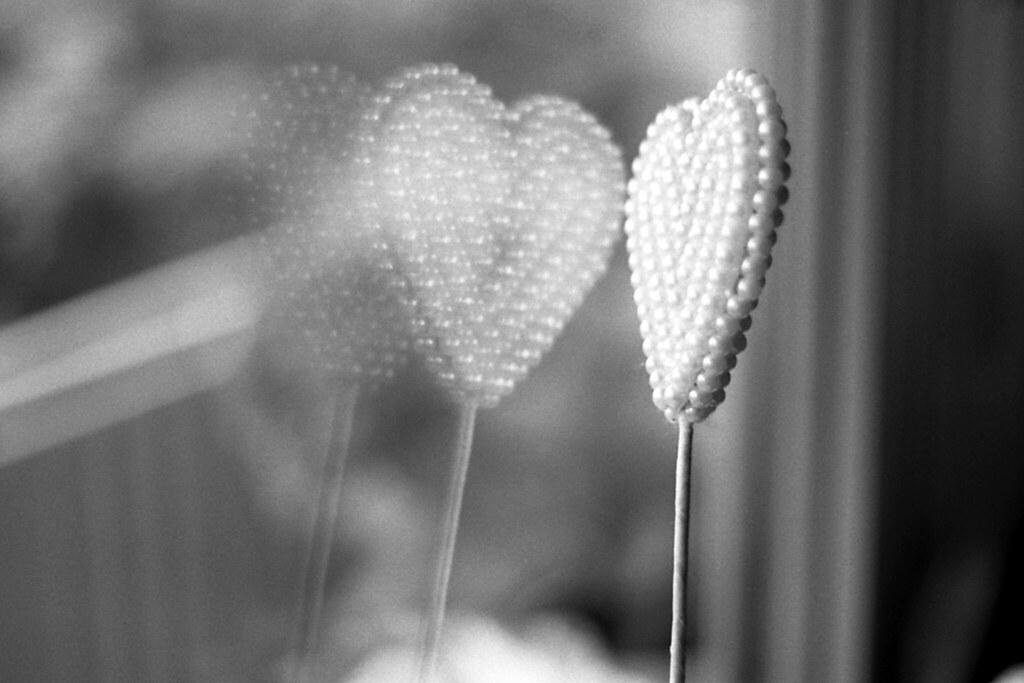 Herz in der Scheibe
