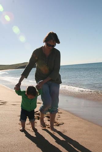 Strolling along Werri Beach