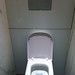 Men's Restroom: Commode, with Small & Big Flush Buttons