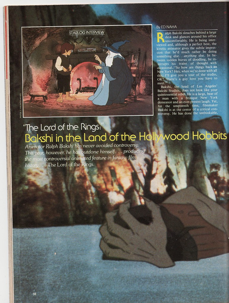 Ralph Bakshi interview by Ed Naha - Starlog, Feb. 1979