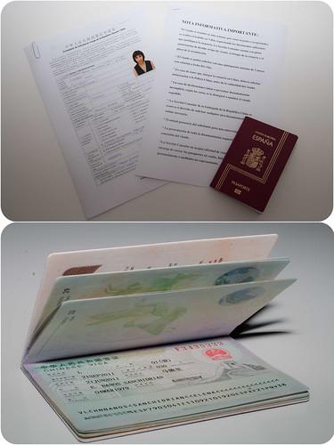 Documentación para el visado a China