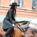 Lady in Black on Horse