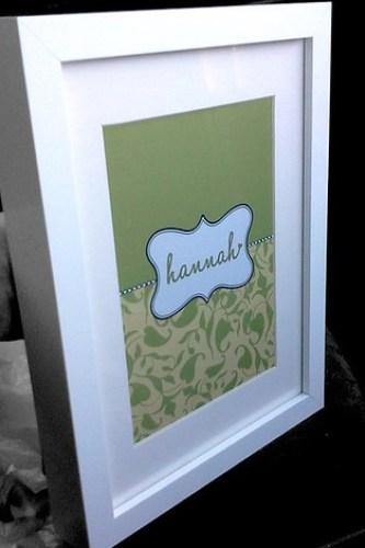 kids personalised frame