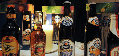 Some of the beers being served at Cornstore Cork's Food & Beer Evening for Octoberfest 2011