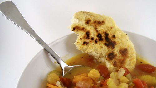 Three-Bean Soup with Bannock