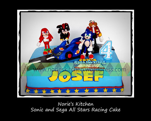 Norie's Kitchen - Sonic the Hedgehog and Sega All-Stars Racing Cake - Front by Norie's Kitchen