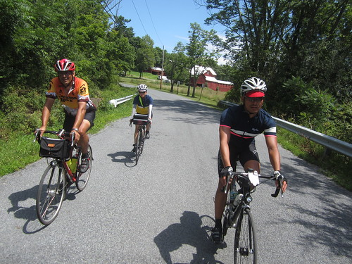 We caught up with Yiping who was having a great ride, we road the last 45 miles or so together