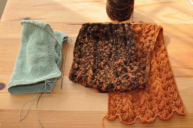 Washcloth and Aria Delicato scarf.