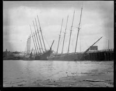 Sunken sailing ships