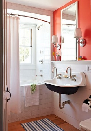 orange bath traditional home