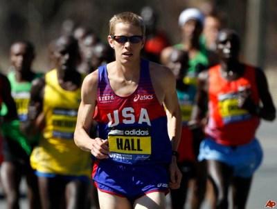 Ryan Hall en el Maraton de Boston 2011