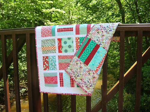 front and back of baby quilt