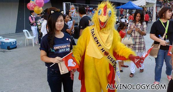 Starved chicken