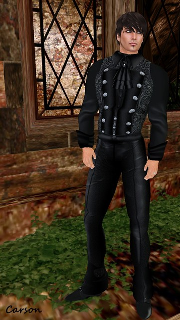 Brain Circuit Inc- Black Brocade Outfit