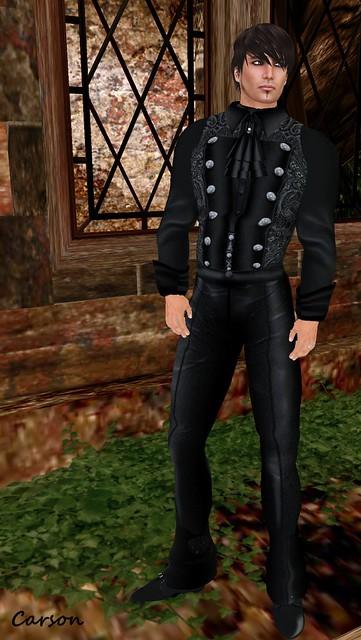 Brain Circuit Inc- Black Brocade Outfit