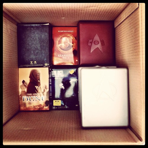 When packing to move, pack the important things first. #sciFi
