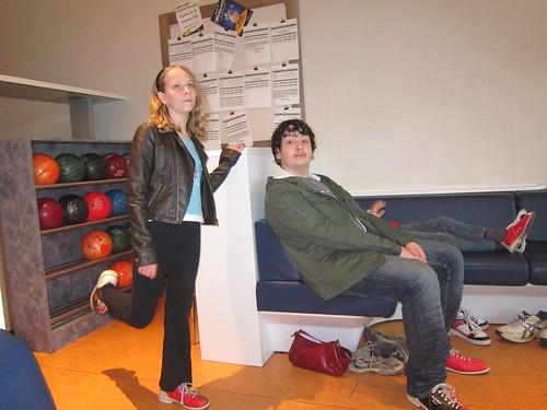 David and Caitlin at bowling