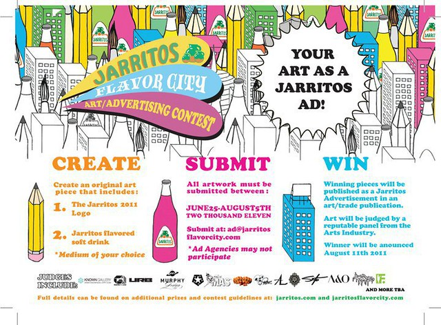 I'm a Judge in The Jarritos Flavor City Art Contest