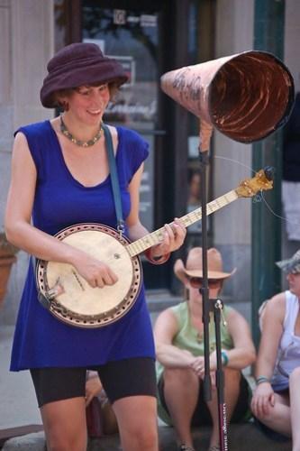 Smiling Banjo Player