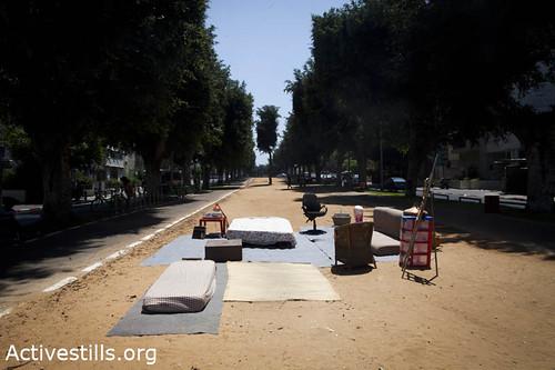 Tent city against the housing prices, Tel Aviv, Israel, 14/7/2011