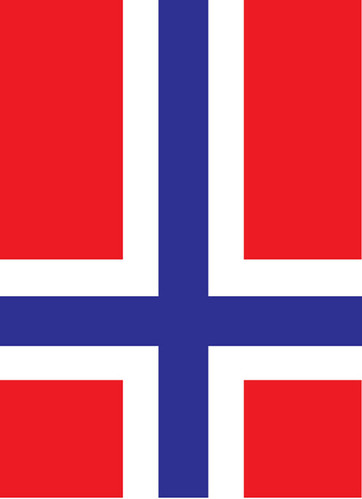 St. Peter´s cross - flag by Karstein Volle