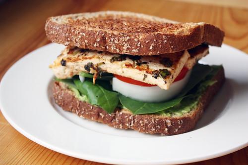 cilantro-lime tofu sandwich.
