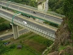Die Autobahn einmal von oben