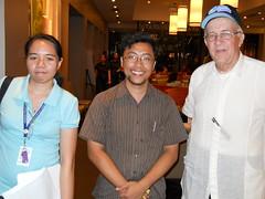 Uzziel Perez, Dr. Quirino Sugon Jr., and Fr. Daniel J. McNamara, SJ