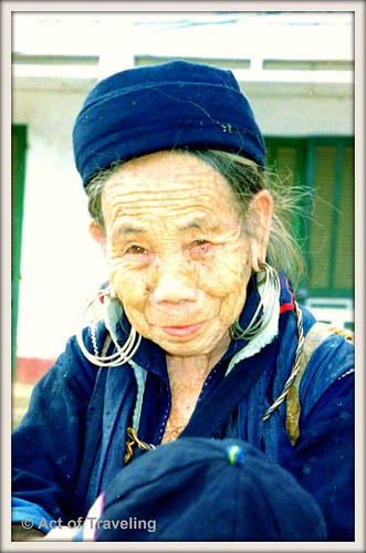 Old Hmong woman in Sapa, Vietnam