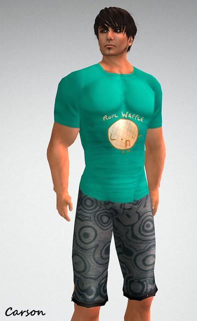 LuTimez - Rofl Waffle Shirt   insanya - Neoprene Circles Shorts