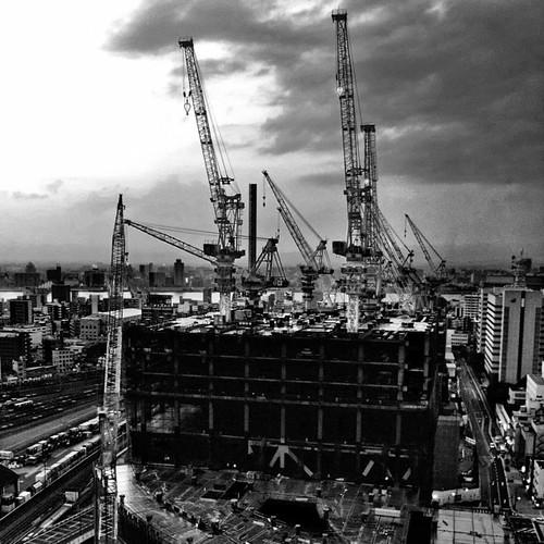 久々のクレーン萌え! #crane #bwlove #iphonography #instagram