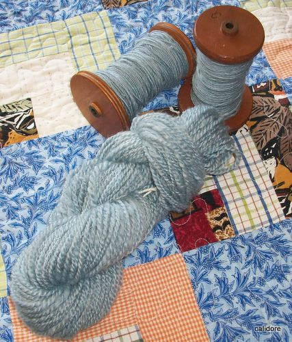 "Corridale wool dyed with Landscape Dye - ""Sun Orchid"""