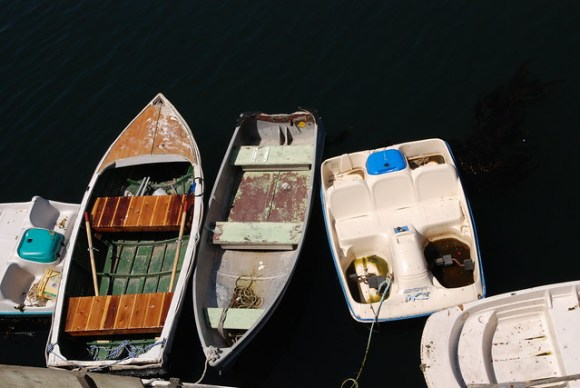 Roddbåtar i Monterey