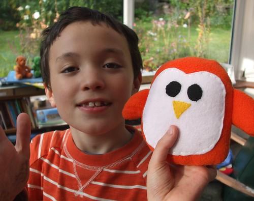 Danny's new orange penguin