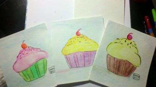 My Cupcake paintings