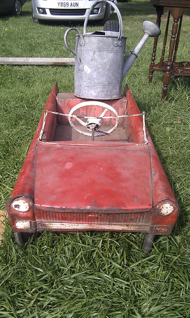 Rusty peddle car
