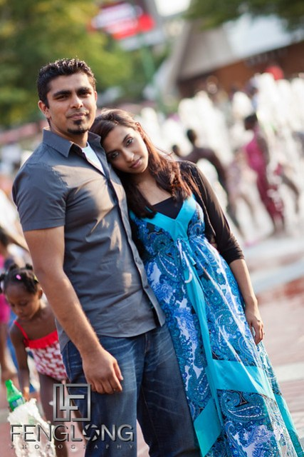 Naz + Amir Engagement Session | Centennial Olympic Park | Atlanta Indian Wedding Photographer