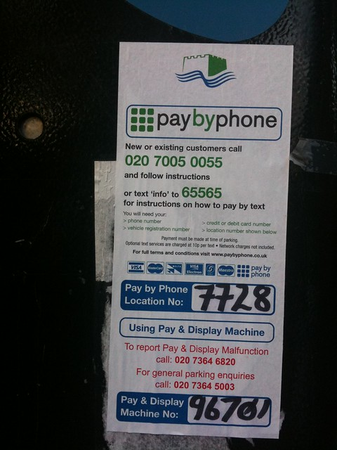 Parking meter - Tower Hamlets
