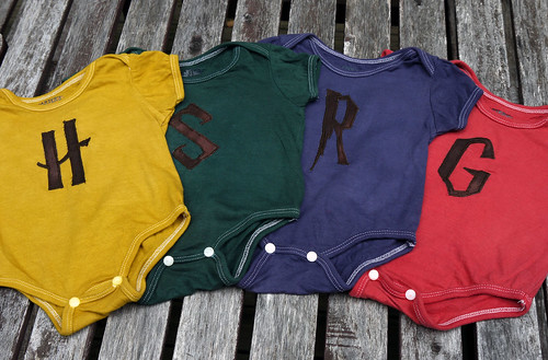 Harry Potter Dyed and Appliqued Onesies